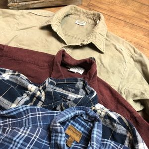 Other - Lot of 4 men's Flannels size XL (S5)